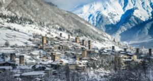 Ski resort in Svaneti